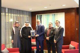 أمين عام الجمعية يلتقي مع المدير العام  لفندق  روش ريحان / روتانا