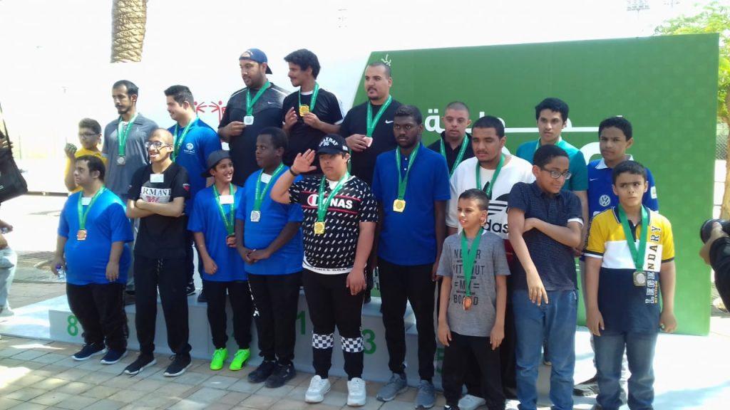 مشاركة مركز الأمير ناصر بن عبدالعزيز للتوحد ببطولة الاولمبياد الخاص بمدينة الرياض